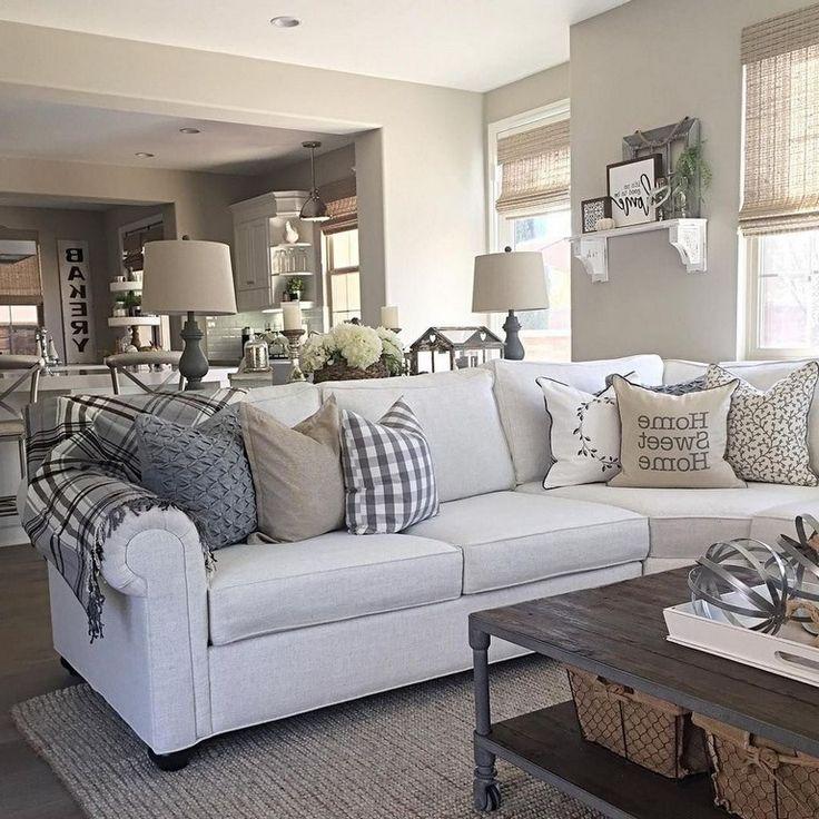 35 classy modern farmhouse living room design ideas