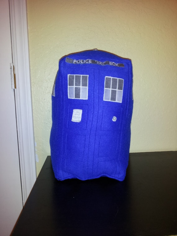 I'm getting this to keep me warm... :)    Doctor Who TARDIS detailed  plushie pillow by mbarr091 on Etsy, $35.00