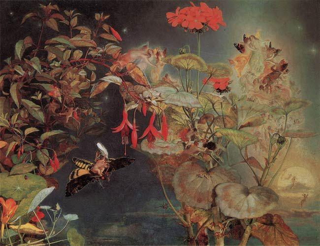 John George Naish - Midsummer fairies - 1856