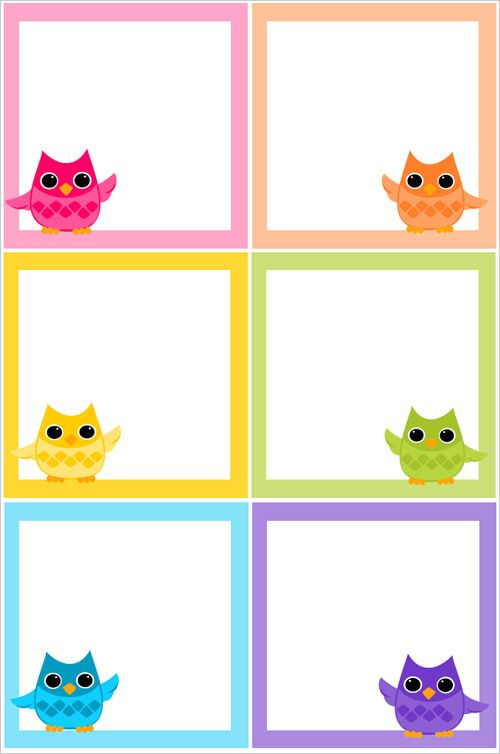 These owl sticky notes are available in six lovely colors and they are free