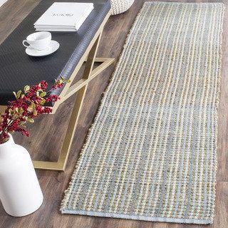 Safavieh Cape Cod Handmade Aqua Jute Natural Fiber Rug (2'3 x 6') | Overstock.com Shopping - The Best Deals on Runner Rugs