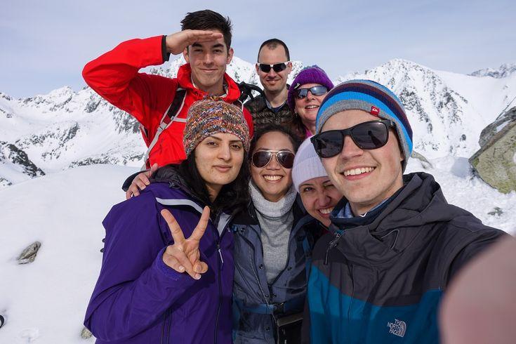 Elischka hiking team in the High Tatras