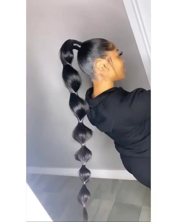Bombtress Virgin Hair On Instagram Bubble High Ponytail Hairstyle Repost From Stylist Hair Ponytail Styles High Ponytail Hairstyles Hair