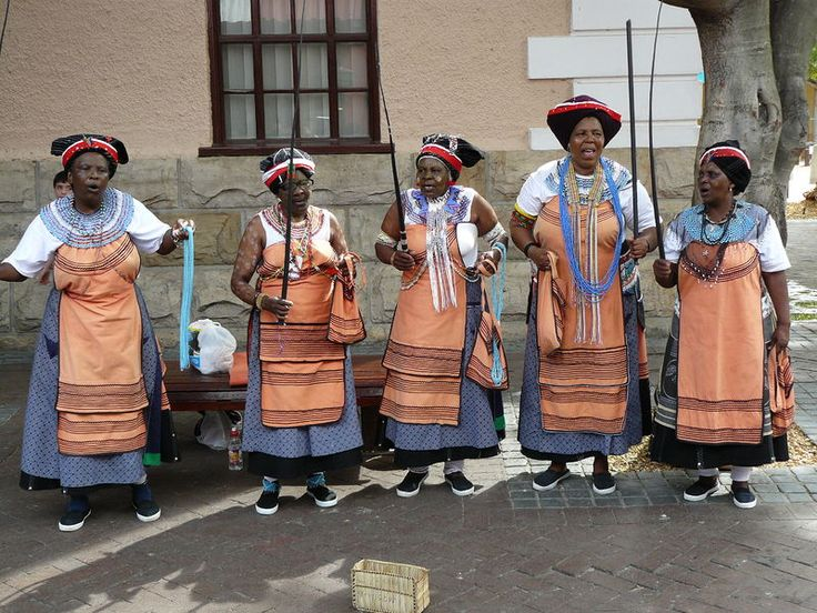 Xhosa women in taditional costume