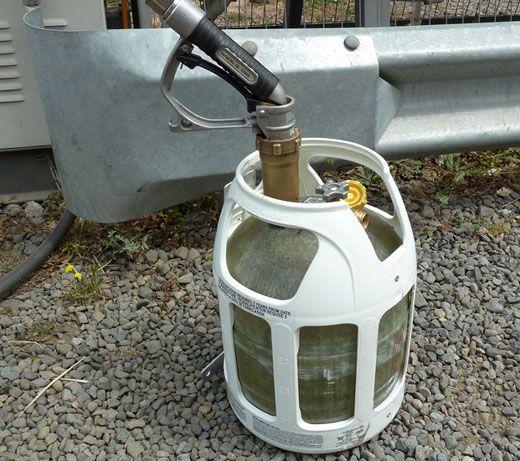 Semitransparent fiberglass    propane    tanks   Cool    RV