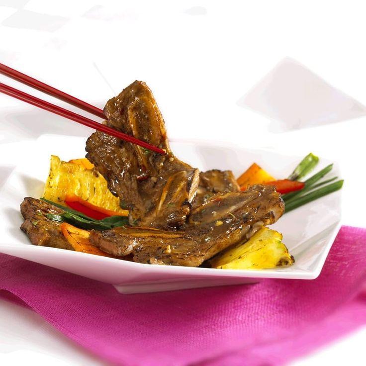 pineappleglazed beef miami ribs  recipe  rib recipes