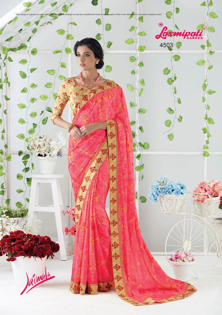 Look Royal with Our Pink Chiffon Saree and Pashmina Multicolor Blouse along with Fancy Printed Lace Border. #Catalogue #JAIMALA #DesignNumber: 4503 #Price - ₹ 2042.00  #Bridal #ReadyToWear #Wedding #Apparel #Art #Autumn #Black #Border #MakeInIndia #CasualSarees #Clothing #ColoursOfIndia #Couture #Designer #Designersarees #Dress #Dubaifashion #Ecommerce #EpicLove #Ethnic #Ethnicwear #Exclusivedesign #Fashion #Fashionblogger #Fashion