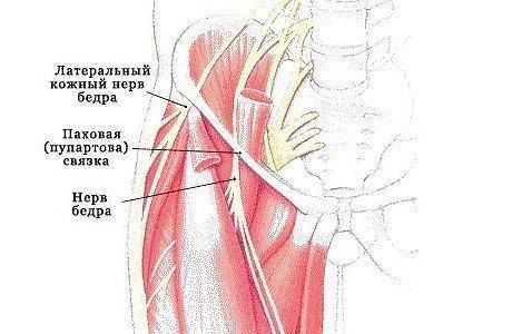 УПРАЖНЕНИЯ ПРИ НЕВРАЛГИИ НАРУЖНОГО КОЖНОГО НЕРВА БЕДРА  При заболевании остеохондрозом бывает, что возникает боль с наружной стороны бедра. Бедро немеет, жжет, не знаешь, куда и как положить ногу. Боль усиливается при ходьбе. Заболевание это носит название «болезнь Рота Бернгардта» и поражает людей малодвигающихся.  Здесь могут помочь радоновые, сероводородные, грязевые ванны и, конечно, лечебная физкультура.  Комплекс упражнений  Вот простые упражнения, которые рекомендуются специалистами…