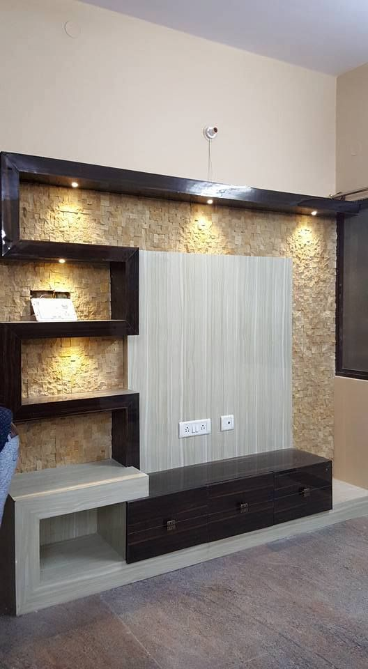 Popular Interior Design For Tv Showcase: We Are Manufacturing Best Quality TV Unit Stone Wall