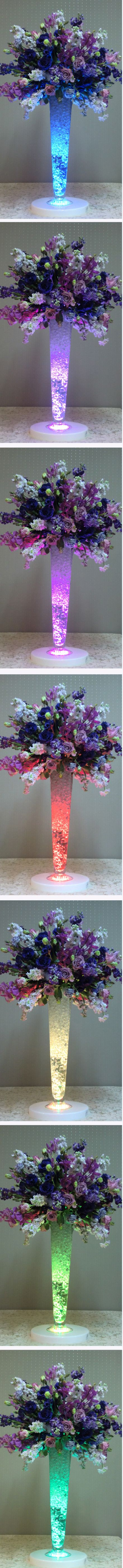 LED centerpiece--alternative to string light...? Not sure where to get or what they out in the vase..