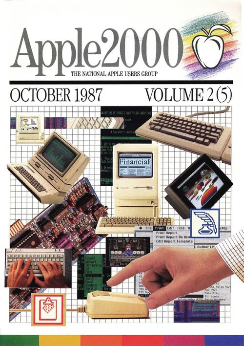 Cover of the magazine Apple 2000, 1987