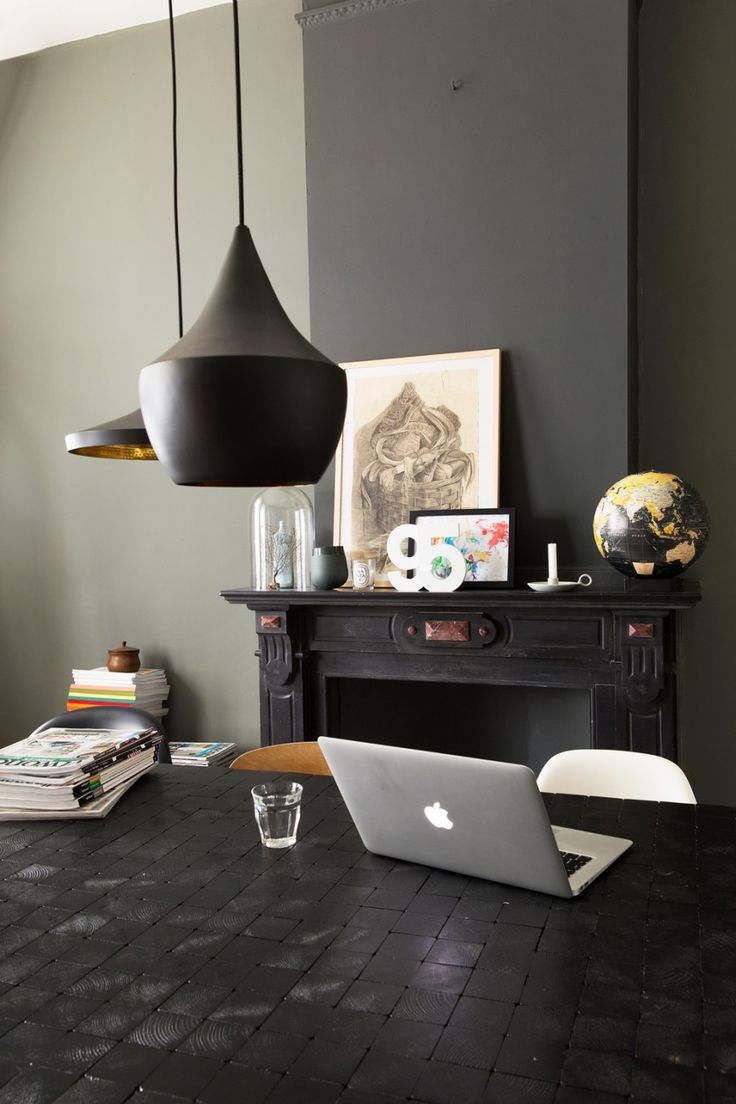 Table made of black wood blocks, Piet Hein Eek style | VT Wonen | Groundfloor apartment of Theo-Bert and Jelle in The Hague, NL