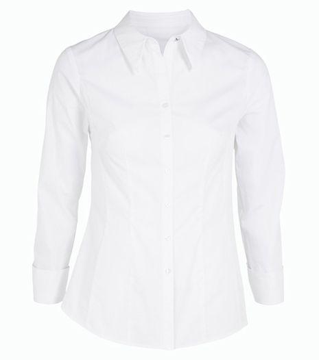 Fehér ing, ami ideális irodai viselet. Élre vasalt nadrággal vagy ceruzaszoknyával párosítsd.