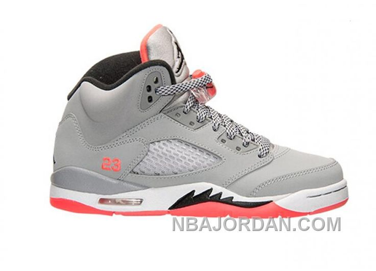 Authentic 440892-018 Air Jordan 5 Retro Girls Wolf Grey/Black-Hot  Lava-White Top Deals