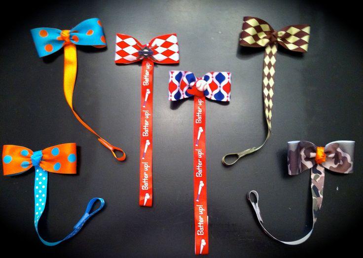 Pacifier Clip Bow Tie