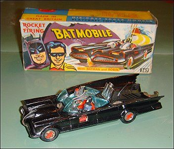 The original Corgi Batmobile vehicle was a limited edition range produced by Corgi