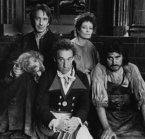 "1989 -- Alan Rickman with the cast of ""Revolutionary Witness"" [The Preacher]"