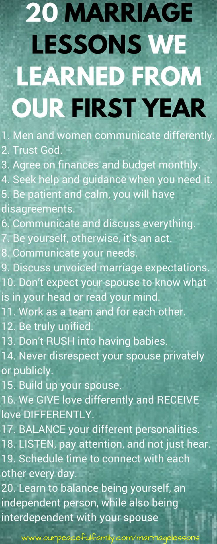 20 marriage lessons we learned from our first year,, #RelationshipFixingTruths – Stephanie Dixon