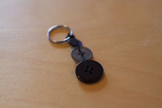 Button Key Chain Ring on Etsy, $6.00 AUD