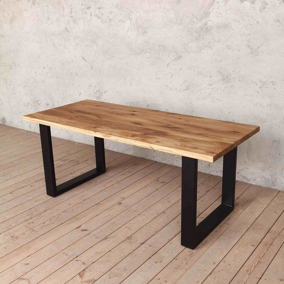 Natural Solid Oak Dining Table With U Shaped Legs Holborn