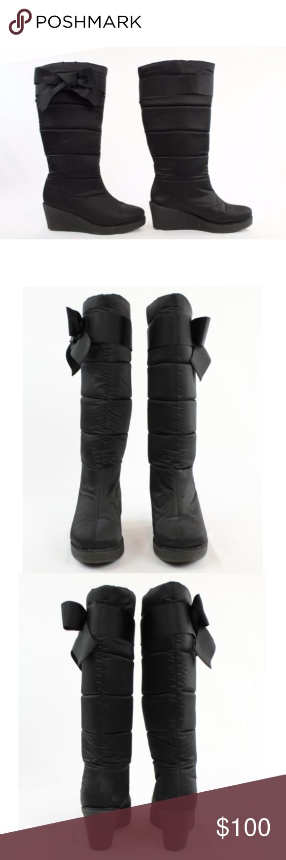 """Kate Spade Cagney Black Wedge Quilted Snow Boot Kate Spade Cagney Size 9.5 Black Wedge Snow Boots Winter Women's Nylon Quilted  Type: Boots  Style: Snow  Brand: Kate Spade New York  Size: 9.5  Color: Black  Measurements: 2 3/4"""" Heel  Condition: Excellent pre-owned...no visible flaws  Country of Origin: China kate spade Shoes Winter & Rain Boots"""