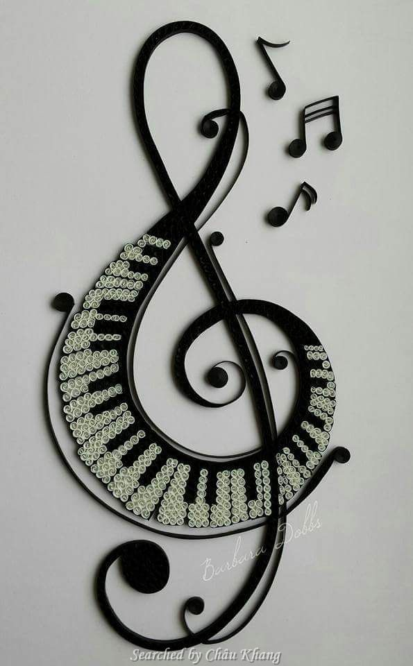 @ Barbara Dobbs- Quilled treble clef pictures (Searched by Châu Khang) - Crafting DIY Center