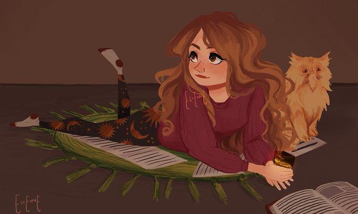 Amigurumi Hermione Granger and Crookshanks by