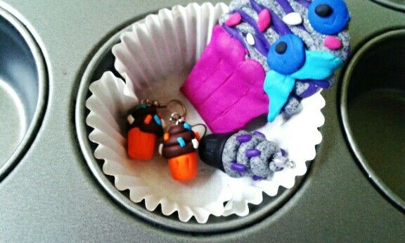 Cupcakes FIMO (I and my father)