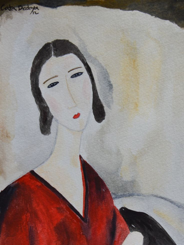 Watercolor - Catalina Solgt! 18 x 25 cm