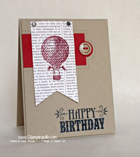 Masculine Birthday Card Idea with Stampin' Up! You're Amazing Stamp Set