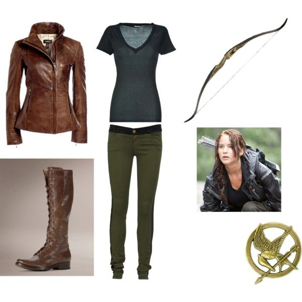 best project katniss cosplay images the hunger  katniss hunting outfit love the boots