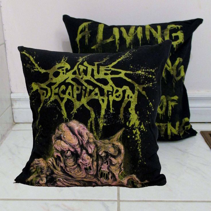 Cattle Decapitation Pillow DIY Death Metal Decor #6 (Cover Only; Insert Available) by DarkStormDesign on Etsy