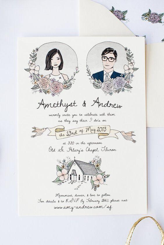 Matrimonio O Que é : Convites de casamento que são verdadeiras obras de arte