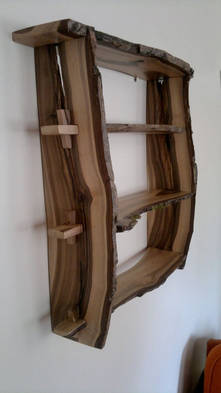 Items Similar To Walnut Wood Shelves. Natural Edge Wall Mounted, Handmade  From Bookmatched Planks Of English U0027Blackheartu0027 On Etsy