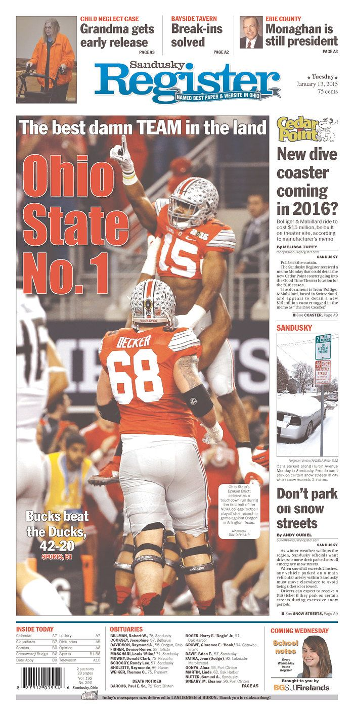 The best Ohio State national championship newspaper front pages - Land-Grant Holy Landclockmenumore-arrownoyesHorizontal - WhiteHorizontal - WhiteStubhub LogoHorizontal - White : All the best newspaper covers celebrating Ohio State's eighth national championship.