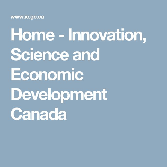 Home - Innovation, Science and Economic Development Canada