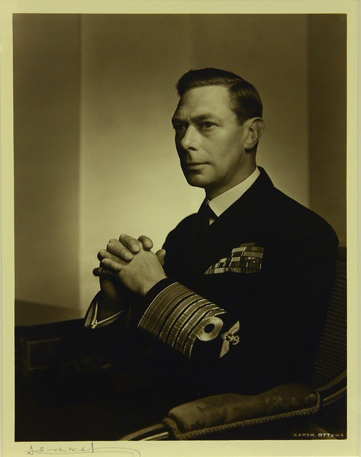 Sepia photo of King George VI 1943 by Yousuf Karsh by Karsh Nut, via Flickr