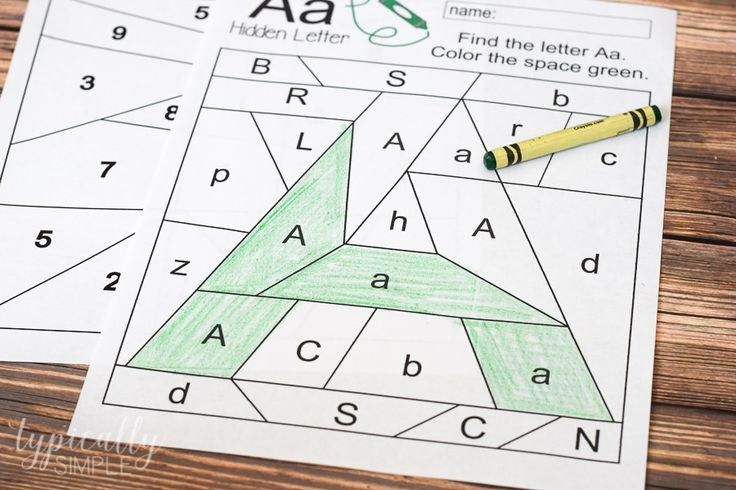 Free printables for preschool or early elementary as a way to practice letter and number recognition and fine motor skills.