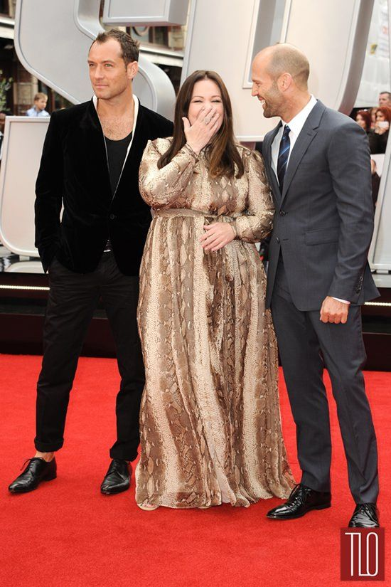 """Jude Law, Melissa McCarthy and Jason Statham at the """"Spy"""" UK Premiere"""