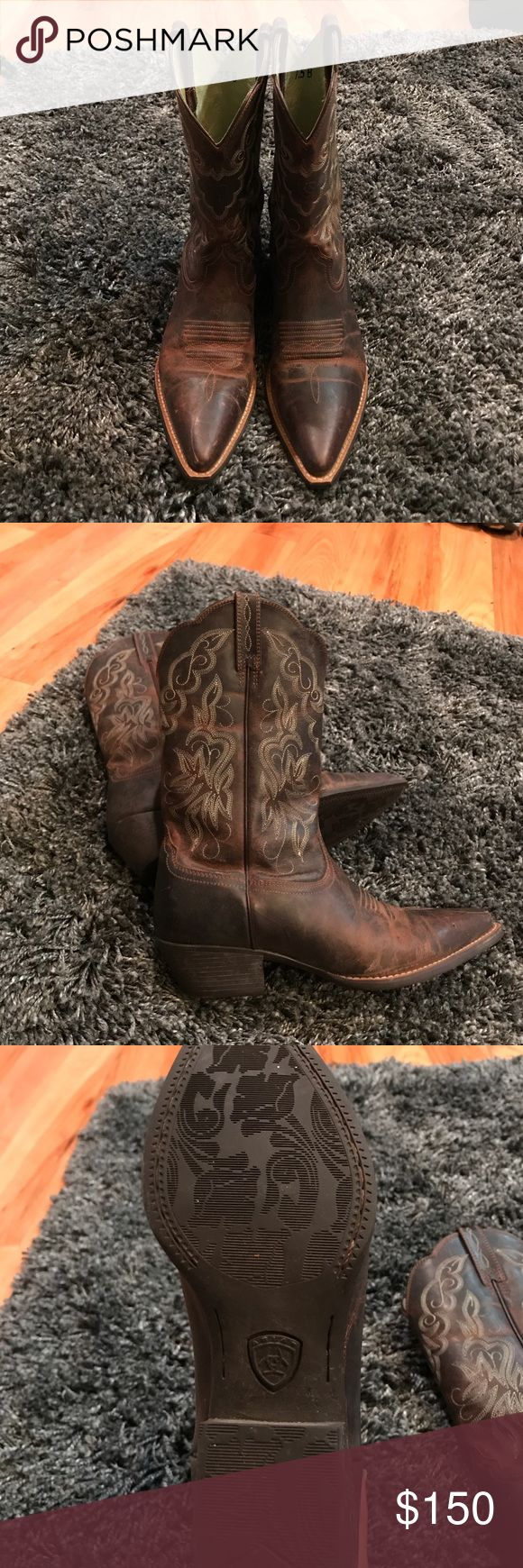Ariat Western Cowboy Boots Women's heritage J toe boot in sassy brown, brand new with box, size 7.5 (B width). Ariat Shoes