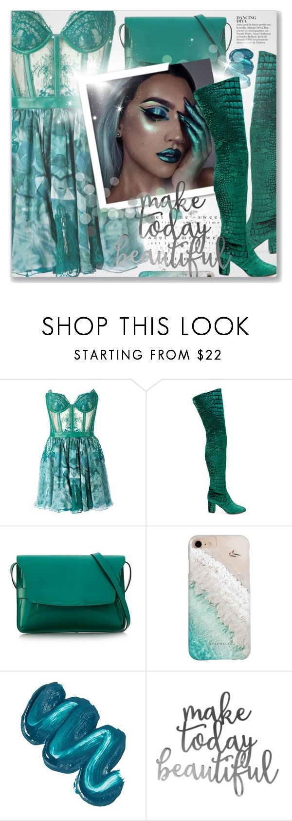 """""""Mayores (feat. Bad Bunny), Becky G"""" by blendasantos ❤ liked on Polyvore featuring Kristian Aadnevik, Jean-Michel Cazabat, Anja, Gucci, Gray Malin, Mermaid Salon, Halloween, halloweencostume, halloweencostumes and halloweenmakeup"""