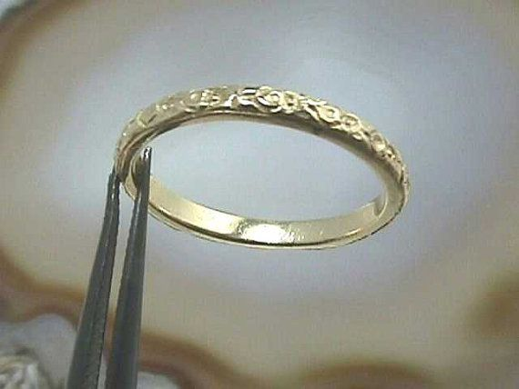 Size 7 14K Yellow or White Gold Antique Art Nouveau by jewelry1910