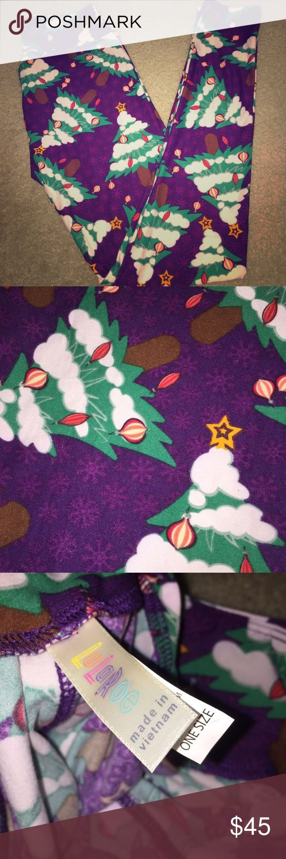 New LuLaRoe Christmas Leggings Awesome LuLaRoe Leggings! New never worn will come with tag and package just took out for pics. I just overdid it with holiday leggings  will shop today so you have before Christmas! LuLaRoe Pants Leggings