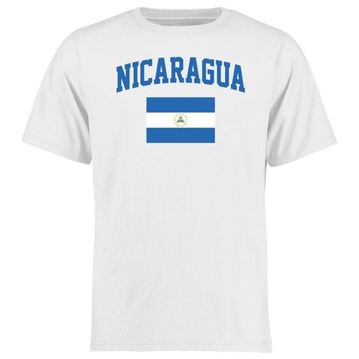 Nicaragua Flag T-Shirt - White