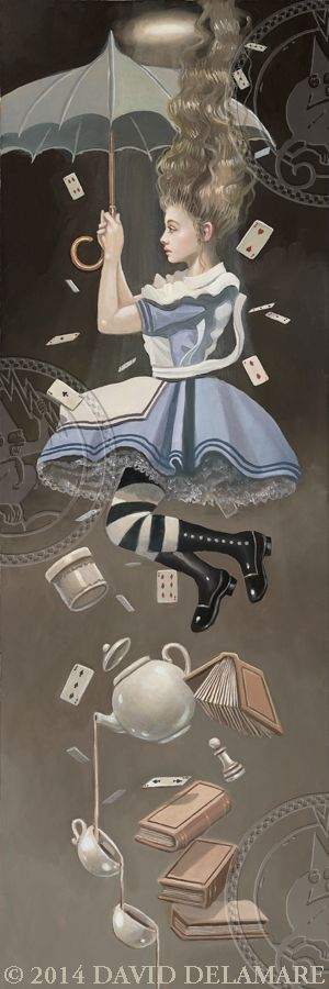 ALICE IN WONDERLAND - FALLING BY DAVID DELAMARE