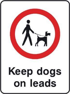 Keep Dogs on Leads playground safety sign