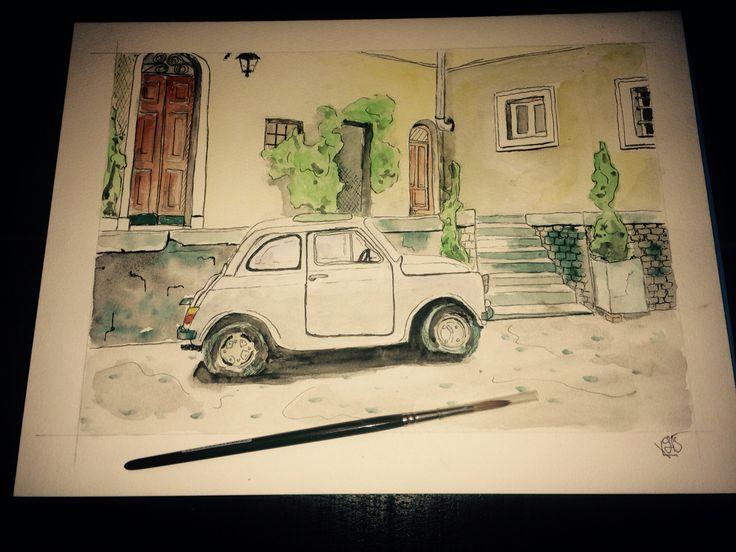 """rendevouz"" Watercolor A4 #street #art"