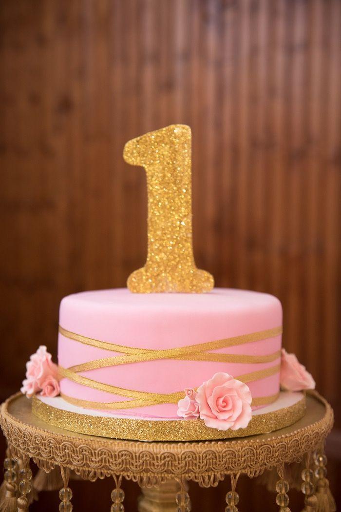 Gold Pink Royal Princess Birthday Party Royal Princess