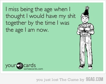 I miss the age when...