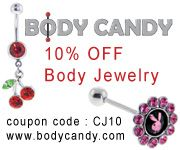 Do you like Body Jewelry? Does your Sweetheart love wearing Body Jewelry? Here is a great sale from a website dedicated only to Body Jewelry. They have a 10% Off Sale. Check it out!